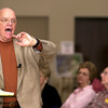 """Dr. Neil Odenwald, Professor Emeritus of Landscape Architecture from Louisiana State University, gives a lecture on """"the bountiful flower garden"""" Saturday April 1, 2006 at the 2006 Garden and Landscape Seminar at First United Methodist Church.  The seminar sponsored by Gregg County Master Gardeners featured lectures, vendor shopping, and door prizes.  (Luisa Morenilla/Longview News-Journal)"""