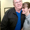 Jennifer Falkner hugs Weldon Ashworth, the officer who recruited her for the police force, after the East Texas Police Acadmeny graduation ceremony at the Woodruff Adult Education Center in Kilgore, Friday, December 1, 2006. (Luisa Morenilla/Longview News-Journal)