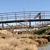 The pedestrian bridge next to Town Lake Plaza off Spur 63 Tuesday, January 31, 2006 in Longview. (Kevin Green/News-Journal Photo)