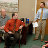Century 21 Classic owner Skip Morton leads a staff meeting Tuesday, January 31, 2006 at his office in Longview. (Kevin Green/News-Journal Photo)
