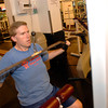 Leon Veazey works out at Parkeway Family Fitness and Recreation Center Tuesday, January 31, 2006 in Longview.  (Kevin Green/News-Journal Photo)