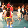 "Director Angela Wright, gives instructions to performers during a rehearsal of ""Reaching for the Stars!"" at the Arts View Children's Theatre Tuesday, July 18, 2006.  The theater will present the production, which is a collage of works created by Arts View Theatre Academy students, on July 21 and 22 at 7 pm. (Luisa Morenilla/Longview News-Journal)"