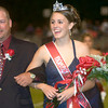 Jessica Warren, a junior at White Oak High School walks off the field, escorted by her father, Eddie Warren, after being crowned homecoming queen Friday night, October 6, 2006.  (Luisa Morenilla/Longview News-Journal)