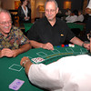 From left Kathey Anderson, Tim Shaughnessy and Paul Anderson try a hand of Black Jack Saturday night at the Longview Museum of Fine Arts Annual Casino night.  Jacob Croft Botter