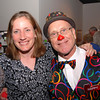 Happy T Clown and Ingrid Johnson of Longview