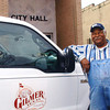 Doris Webb has worked for the city of Gilmer of Gilmer for 46 years, and he says he loves his job with the water department. (Adella Harding/News-Journal Photo)