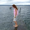 Ashli Kirkland visits the spot where her brother, Jamie Moore, drowned a year ago, Friday, July 6, 2007 at Lake Palestine.   (Lauren Thompson/News-Journal Photo)