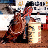 AN action photo of Whitney Gibson during the Odessa PRCA rodeo in 2006. Mandatory credit Dudley Barker Photography