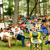 "A large crowd listens to the tunes of the bluegrass band ""Hickory Hill"" Saturday afternoon June 9, 2007, at Overton City Park during the Overton Bluegrass and Gospel Music Festival. (Michael Cavazos/News-Journal Photo)"