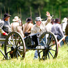 Confederate troops get ready to fire a canon on Sunday May 6, 2007 during the reenactment of the Battle Of Port Jefferson. (Michael Cavazos/News-Journal Photo)