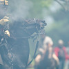 A confederate soldier fires his weapon theough a cloud of smoak on Sunday May 6, 2007 during the reenactment of the Battle Of Port Jefferson. (Michael Cavazos/News-Journal Photo)