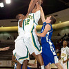 Longview's Cory Levering pulls down a rebound during Monday's December 1, 2008 game against Lindale. (Les Hassell/News-Journal Photo)