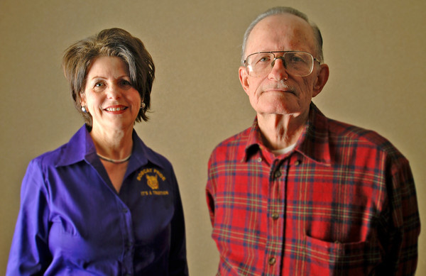 Carol Greer and Thomas Richardson pose for a portrait(Jacob Croft Botter/News-Journal Photo)