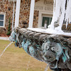 Icicles collect on a fountain in front of the Rheumatology Association of Longview building in Longviw on Thrusday. (Jacob Croft Botter/News-Journal Photo)