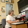 Jay Ingram works in her writing office Tueday, July 1, 2008 in Big Sandy.  (Kevin Green/News-Journal Photo)