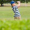 Tayelar  Sheridan of Spring Hill watches his drive  during the Ark-La-Tex Junior Golf Tournament, Monday at Longview Country Club. (Jacob Croft Botter/News-Journal Photo)