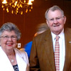 Jack L. Phillips, right, poses for a photo with his wife Barbara Jean Wampler Phillips after he was honored.  (Maia Kushick/News-Journal Photo)