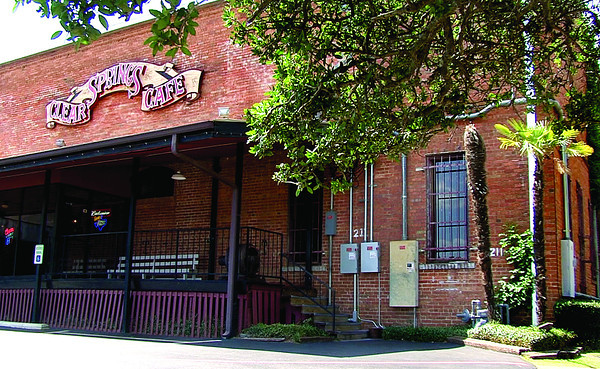 Though not a Nacogdoches original, the Clear Springs Cafe fills a historic warehouse beside the railroad tracks. Its claim to fame: The brick warehouse is said to be the first refrigerated building west of the Mississippi River.<br /> (scott from video)