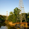 Oil derricks on Sabine River east of TX 42 Monday, June 1, 2009. (Les Hassell/News-Journal Photo)