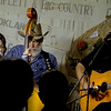 Mertis, left, and Doyle Stevens sing during a recent Caddo Creek performance at the Bluegrass Pickin' Place in Lone Star. <br /> (scott from video)