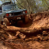 A driver pilots his Range Rover down a trail at Barnwell Mountain Recreation Area Saturday, March 21, 2009 near Gilmer. (Les Hassell/News-Journal Photo)