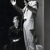 """Charles Rader sings as Janice Lloyd, left, looks on during a rehearsal for """"Boom!"""" in February 1990.  (News-Journal File Photo)"""
