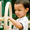 Jordan Turner, 3, spends his Thursday afternoon playing on the playground at McWhorter Park. Thursday October 1, 2009 (Michael Cavazos/News-Journal Photo)