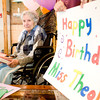 Theola Craig celebrates her 101 birthday, on Thursday October 1, 2009, with family and friends from Oakland Heights Baptist Church at Pine Tree Lodge Nursing Center. (Michael Cavazos/News-Journal Photo)