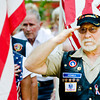 Cecil Honea salutes the flag during the National Anthem at the Gregg County Memorial Day Service, on Monday May 31, 2010, at the Gregg County Courthouse. (Michael Cavazos/News-Journal Photo)