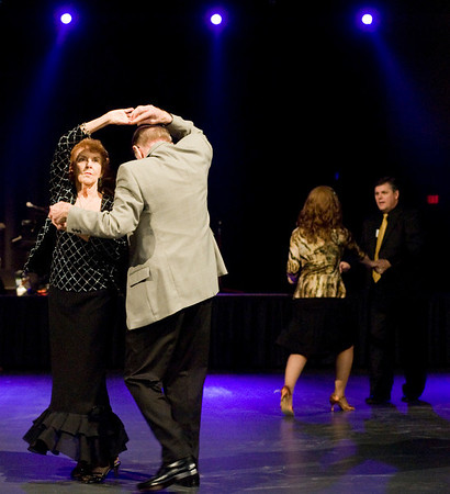 Larry and Lucinda Hamilton take the dance floor, on Friday December 31, 2010, during A New Year's Eve Spectacular with John Schmidt at the Maude Cobb Convention Center. (Michael Cavazos/News-Journal Photo)