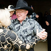 Dick Meadows and Sharon Stuart take the dance floor during a celebration of the new year at the Gold Hall Community Center in Hallsville  on Friday December 31, 2010. (Michael Cavazos/News-Journal Photo)