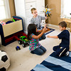 Grace, 5, Paul, 11, and Elijah, 7, play at their Carthage home Thursday, September 30, 2010. (Les Hassell/News-Journal Photo)