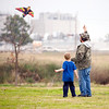 Robert Francis and his son David, 5, fly a kite Saturday, Dec. 31, 2011 at Lear Park. (Les Hassell/News-Journal Photo)