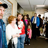 James Archer waits in line at the Gregg County Tax Office on U.S. 80 to pay property taxes on Monday January 31, 2011. (Michael Cavazos/News-Journal Photo)