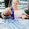 Susan Dehoff plays bingo at the Longview Bingo Center on Thursday March 31, 2011. (Michael Cavazos/News-Journal Photo)