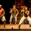 Stomp is performed in LeTourneau's Belcher Center, on Tuesday November 1, 2011, as a part of the 2011-2012 Performance Series. (Michael Cavazos/News-Journal Photo)