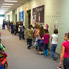 Second graders walk down the hall at Spring Hill Primary Tuesday, Nov. 1, 2011. (Les Hassell/News-Journal Photo)