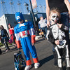 Rocky Powe, left, 6 and Khloe Shelly, right, 3  both of Kilgore  participate in the trick-or-treat  Monday, Nov. 1, 2011, in downtown Kilgore. (Kevin Green/News-Journal Photo)