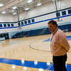 Principal Brian Kasper stands in one of the two gyms  Monday, Nov. 1, 2011, at Judson Middle School in Longview.   (Kevin Green/News-Journal Photo)