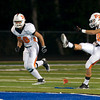 Elysian Fields's Nathan Hall kicks the ball off during Friday's Sept. 30, 2011 against Beckville. (Les Hassell/News-Journal Photo)