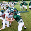 Longview High School football players during drills at the first day of spring practice Monday, April 30, 2012, in Longview.  (Kevin Green/News-Journal Photo)