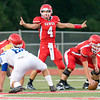 Carthage quarterback #4 calls the signals during Friday's August 31, 2012, game against Jacksonville. (Les Hassell/News-Journal Photo)