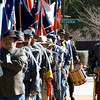 Compatriots carry various flags during the Conderate Heroes Day memorial service Thursday, Jan. 19, 2012 at the Gregg County Courthouse in Longview.  (Kevin Green/News-Journal Photo)