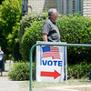People make their way into the Gregg County Community Center to vote in the runoff election on Tuesday, July 31, 2012. (Michael Cavazos/News-Journal Photo)