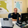 Officer Jeff Hall Police Area Representative for Beat 50 which covers the Signal Hill area sits in his office at the Stamper Park Resource Center at 502 S. Center St. Wenesday, June 20, 2012. Hall says his door is always open to citizens having questions or wanting to organize neighborhood watches. (Les Hassell/News-Journal Photo)