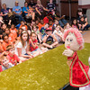 Sandy Shrout performs a puppet show for the children Wednesday, June 16, 2012 at the Longview Public Library.  (Kevin Green/News-Journal Photo)