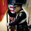 Members of the Longview Police Department Color Guard post the colors at the Giants of Law Enforcement banquet Tuesday, May 15, 2012. (Les Hassell/News-Journal Photo)