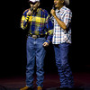 Neal McCoy performs with his father, Hubert McGaughey during Saturday's September 29, 2012 East Texas Angel Network performance at the Belcher Center. (Les Hassell/News-Journal Photo)