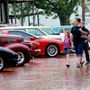 People look at vintage automobiles as they gather Saturday, Sept. 29, 2012 for the 2nd Annual Highway 80 Progressive Car Cruise in downtown Gladewater.  (Kevin Green/News-Journal Photo)