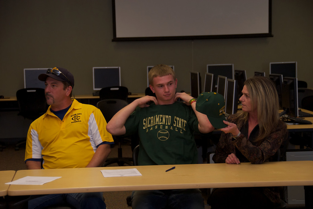 Sac State Letter of Intent signing by Kasey Chapan